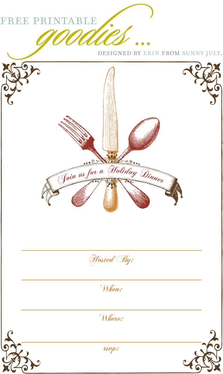 Salad Lunch Invitation Template Free