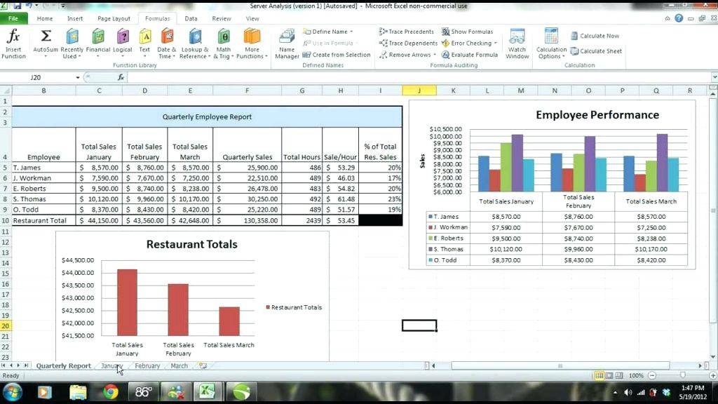 Sales Analysis Report Template Excel