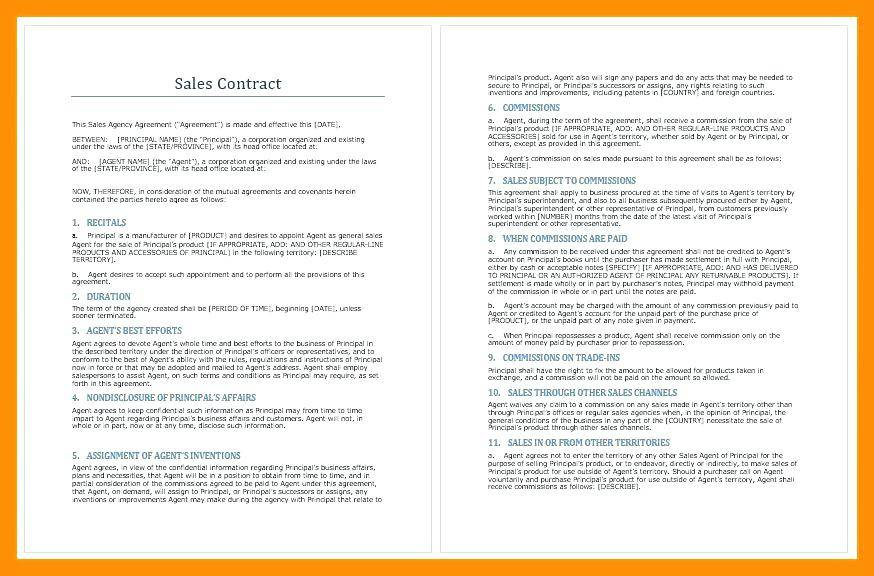 Sales Commision Agreement Template