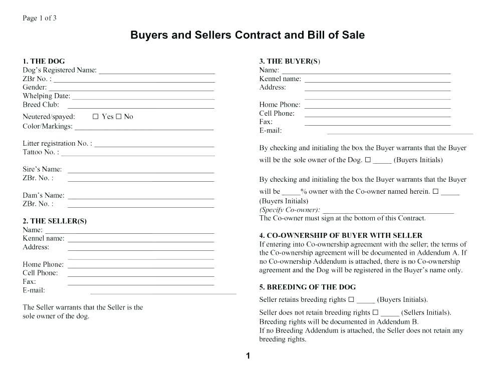 Sales Contract Template Uk