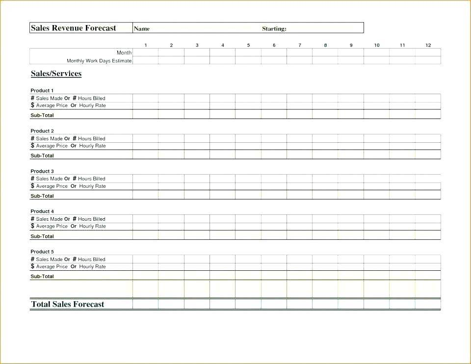 Sales Demand Forecasting Excel Template