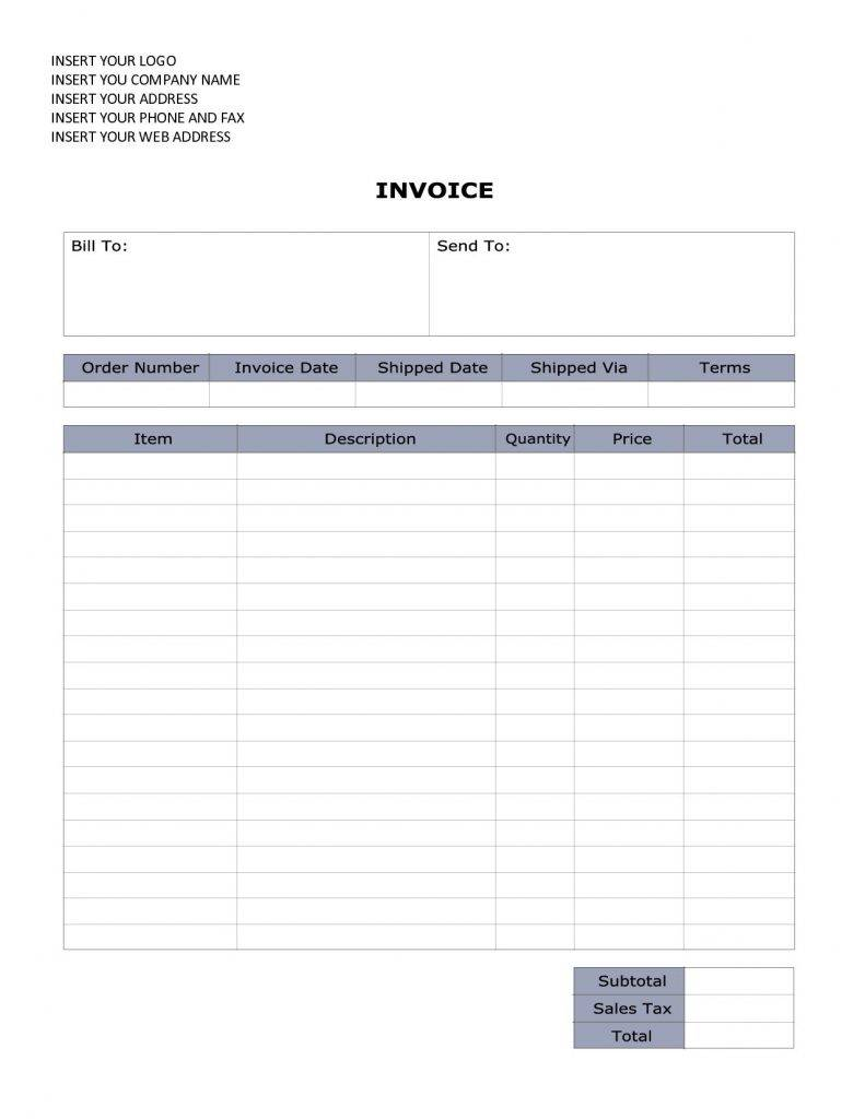Sales Invoice Doc Template