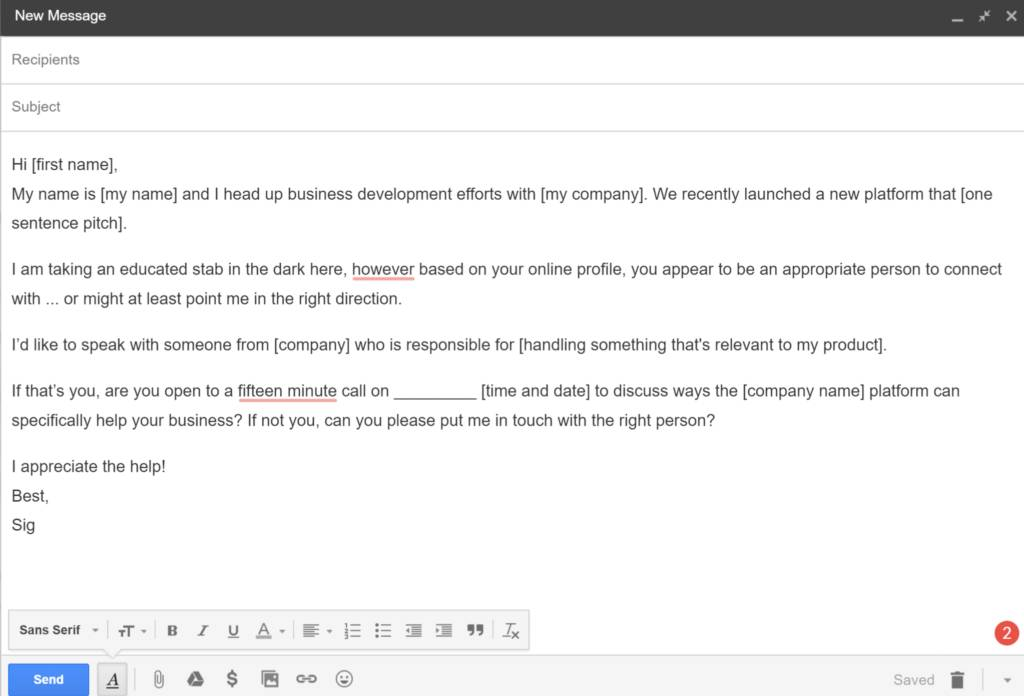 Sales Proposal Email Template