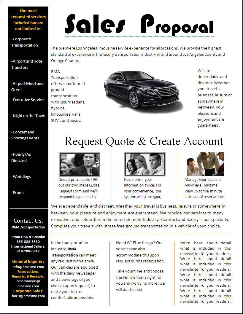 Sales Proposal Template Design