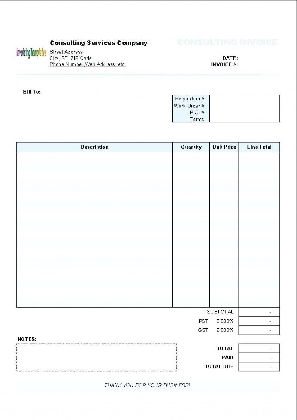 Sales Quotation Template Doc