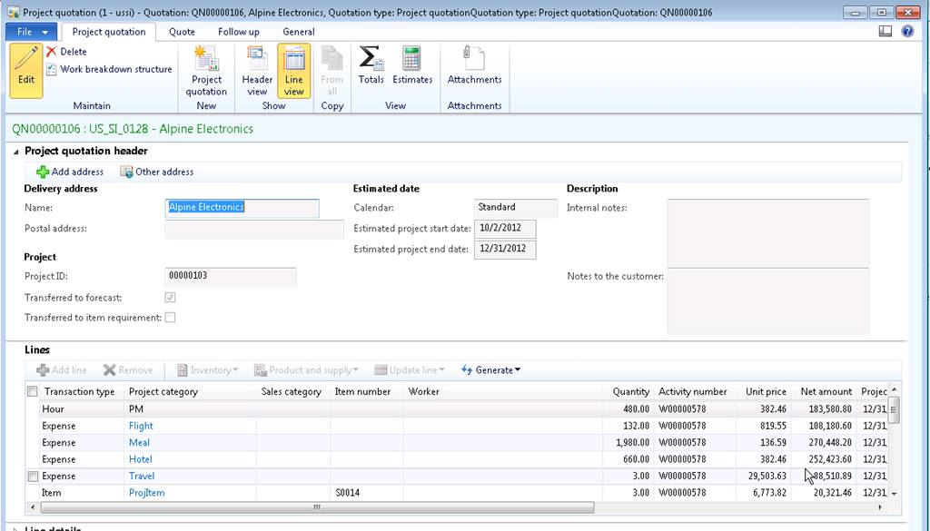 Sales Quotation Template In Ax 2012