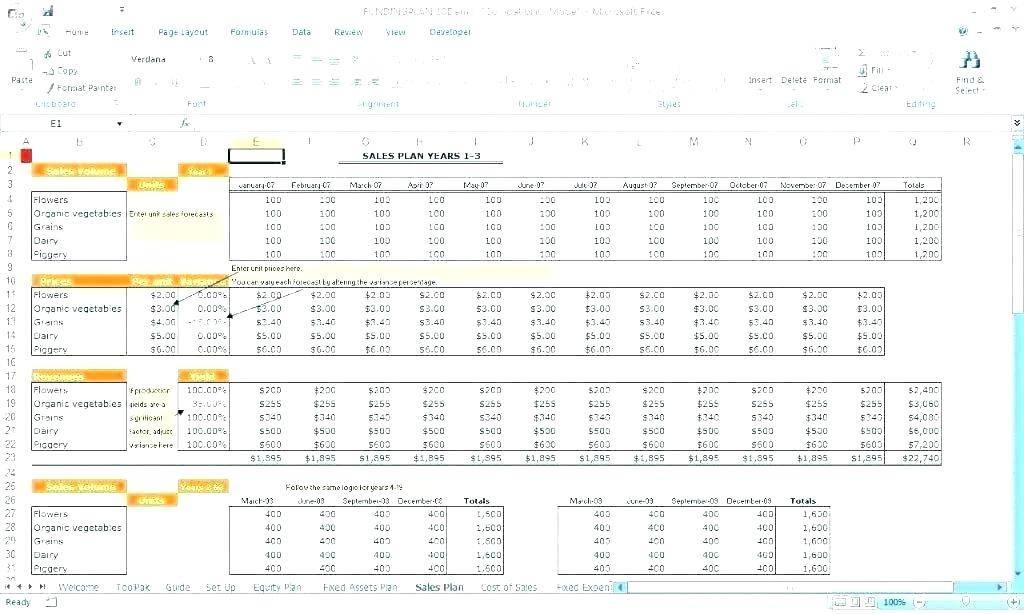 Sales Revenue Projections Template