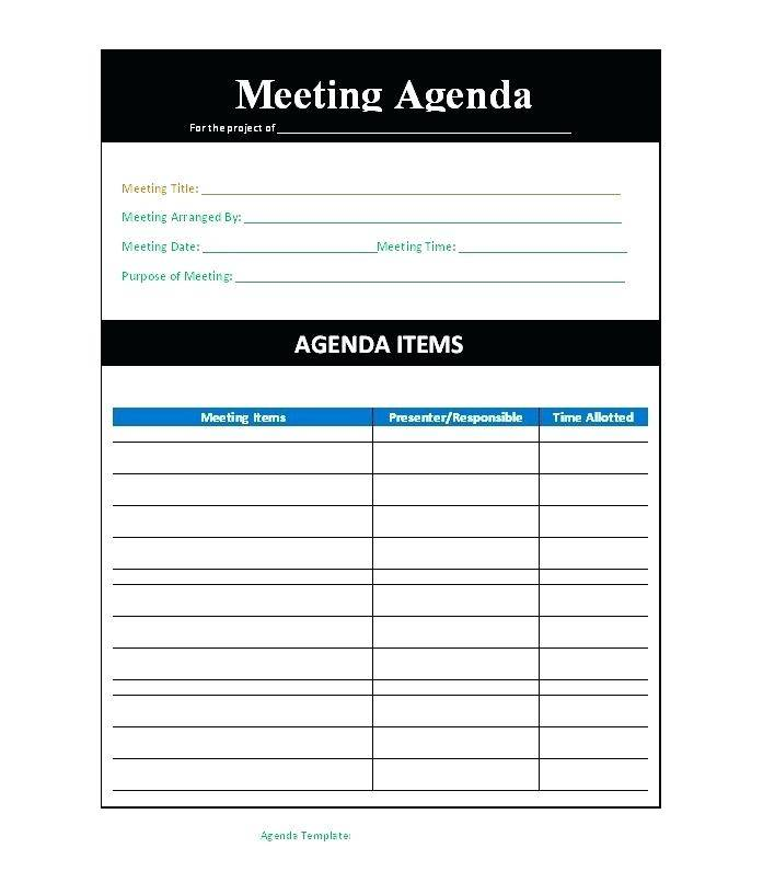 Sales Strategy Meeting Agenda Template