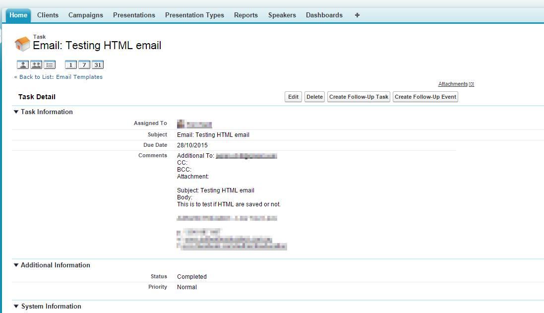 Salesforce Email Templates Api