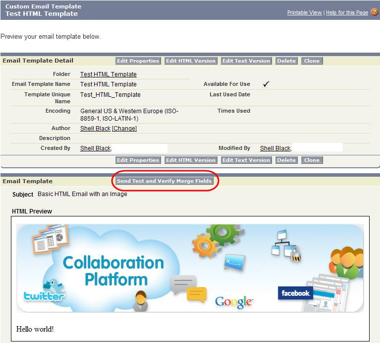 Salesforce Emails Templates