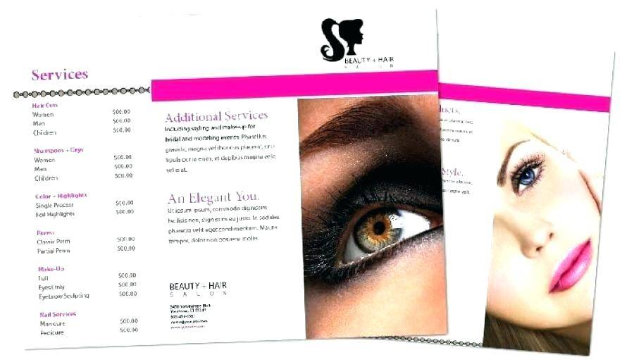 Salon Brochure Templates Free