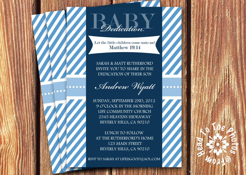 Sample Baby Dedication Invitation Wording