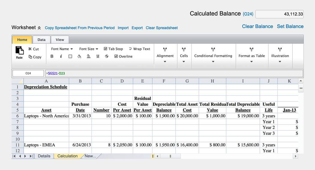 Sample Balance Sheet Reconciliation Template