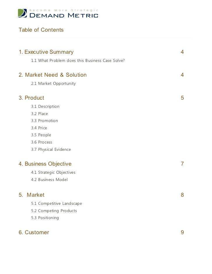 Sample Business Case Template Ppt
