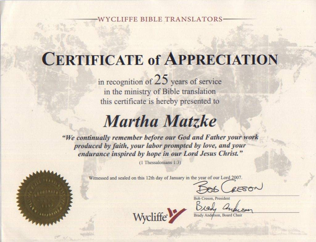 Sample Certificate Of Appreciation For Community Service