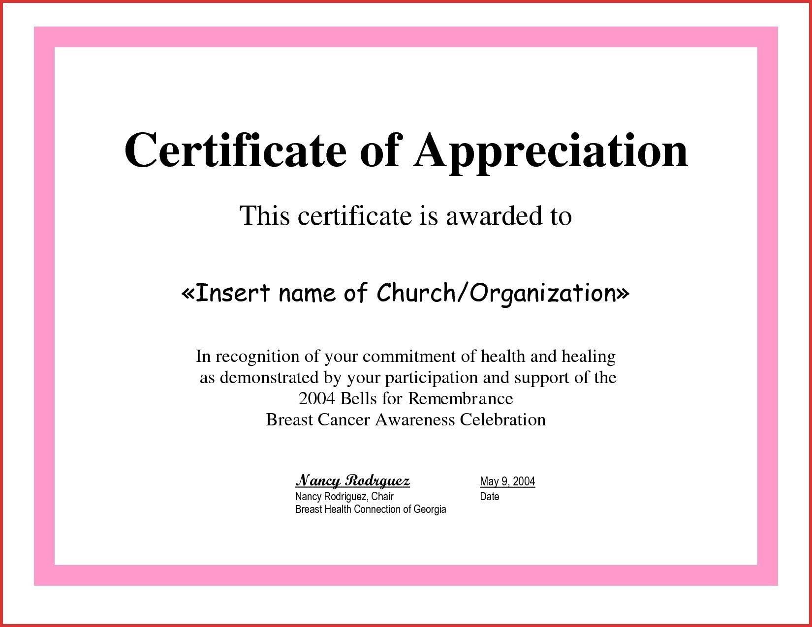 Sample Certificate Of Appreciation For Guest Speaker In Graduation