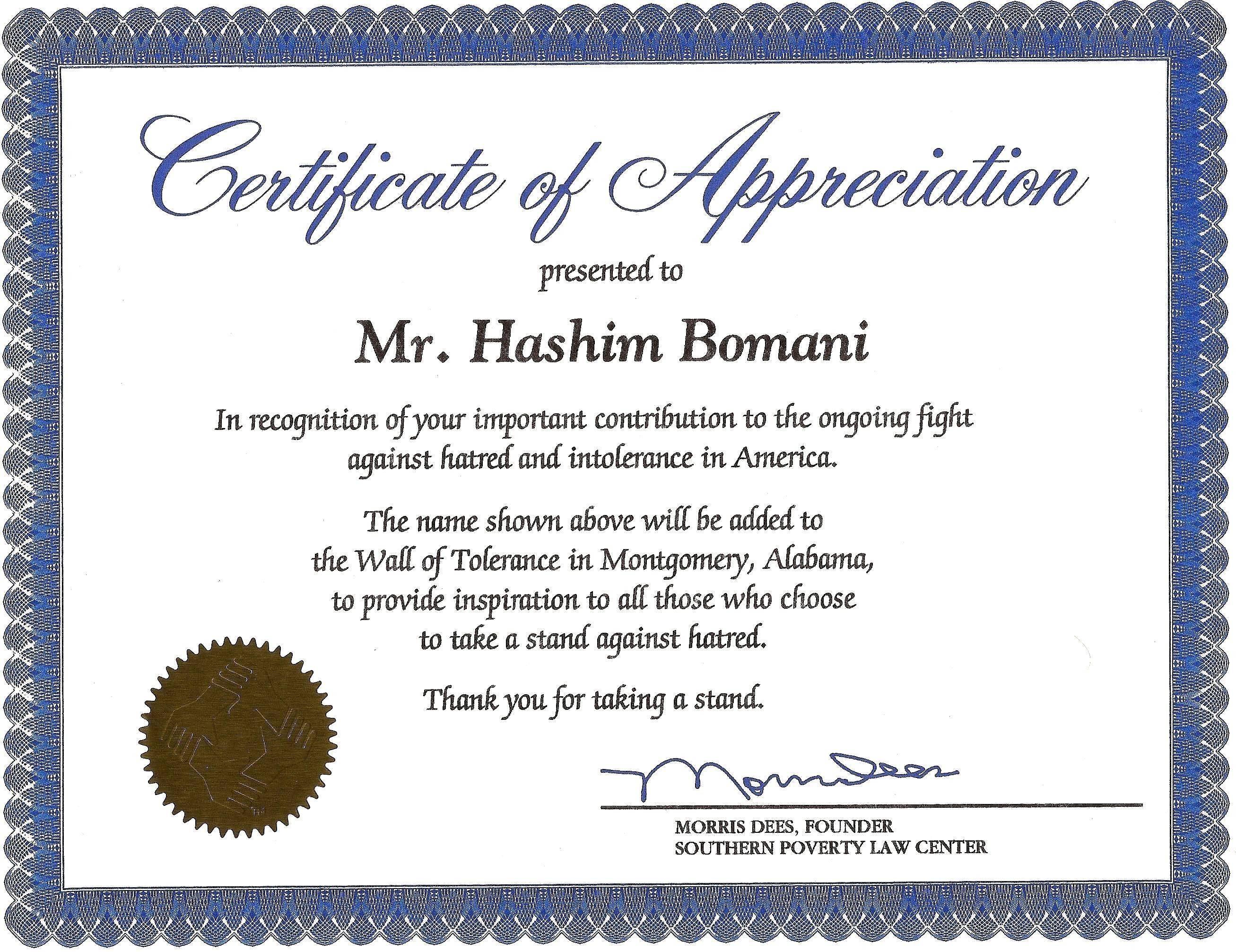 Sample Certificate Of Appreciation For Guest Speaker In Seminar