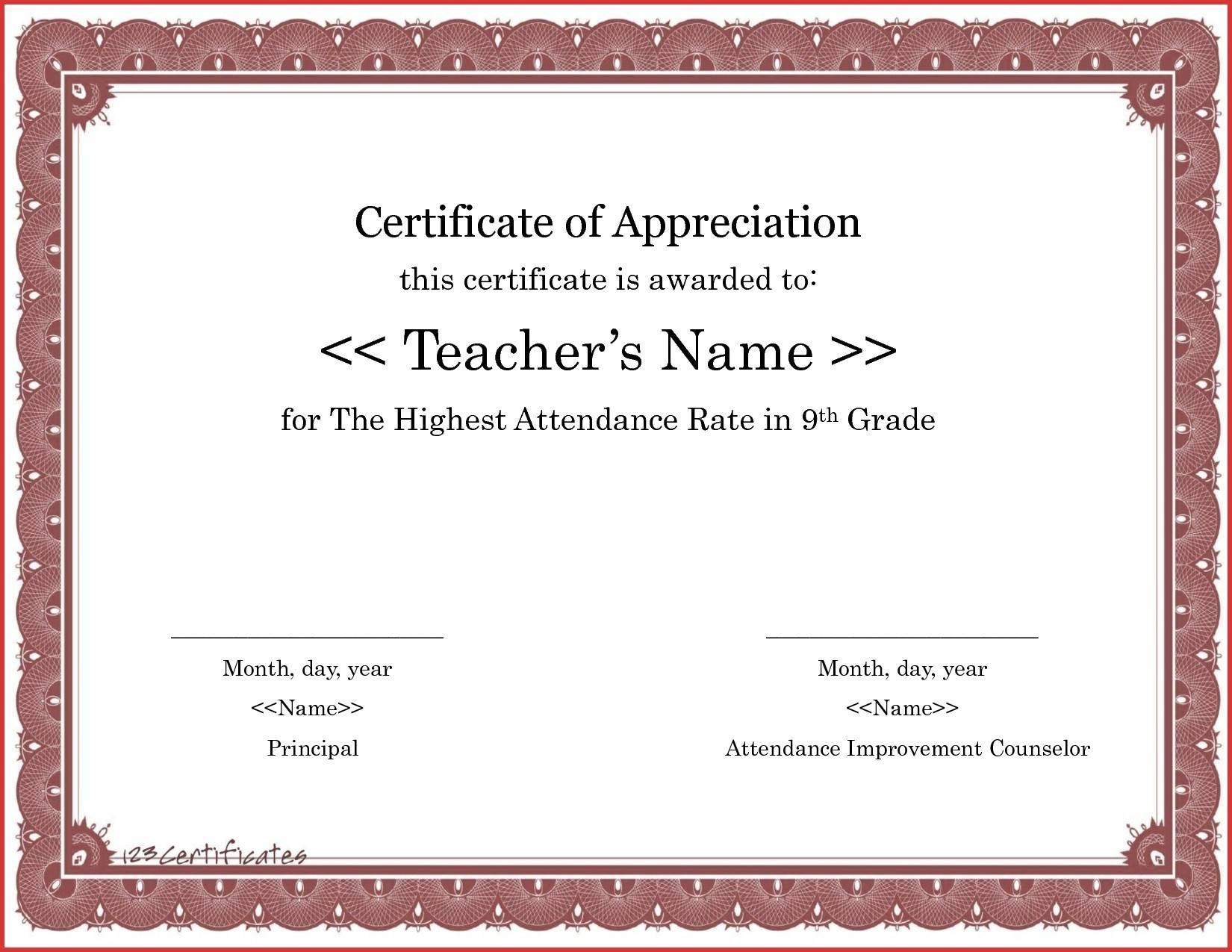 Sample Certificate Of Appreciation For Judges