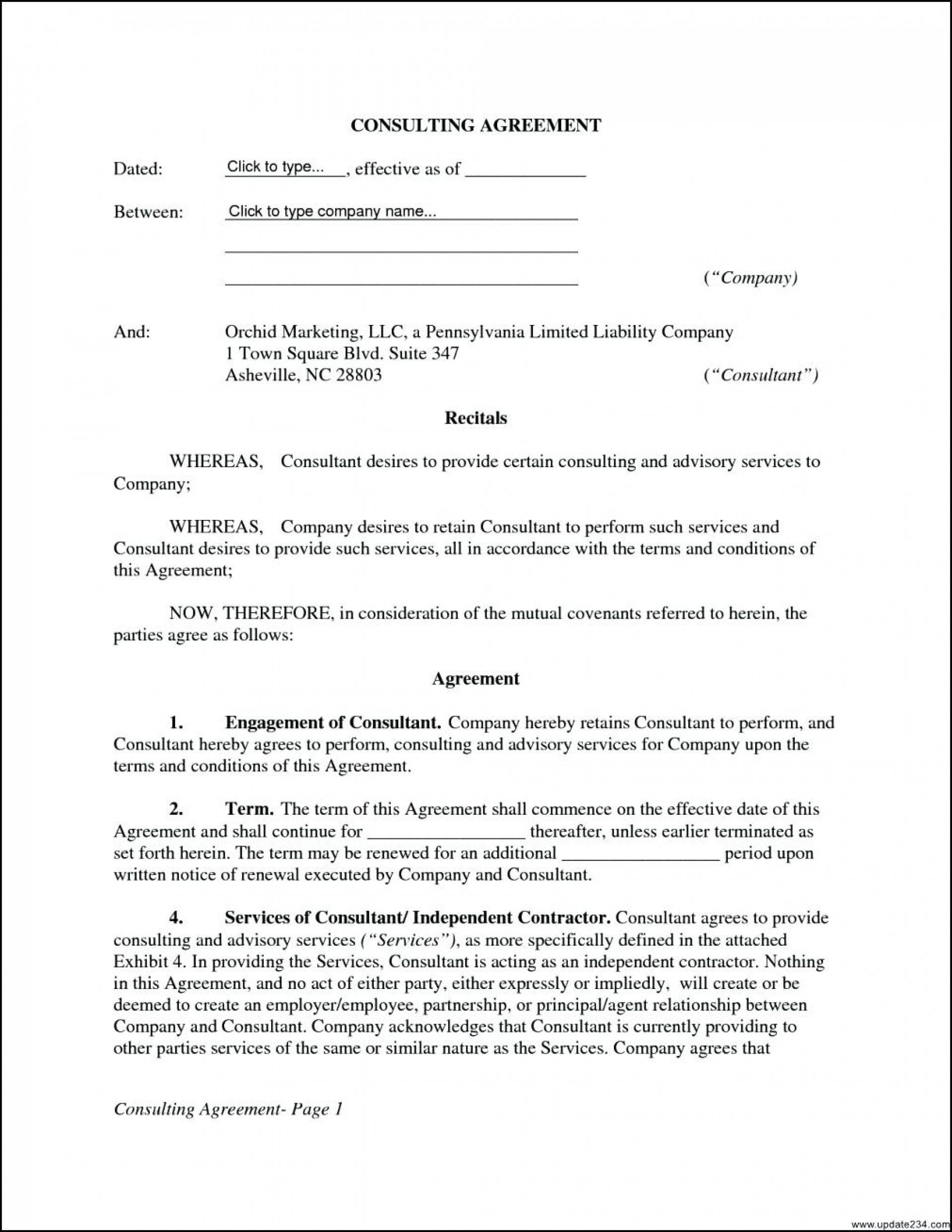 Sample Consulting Contract Template