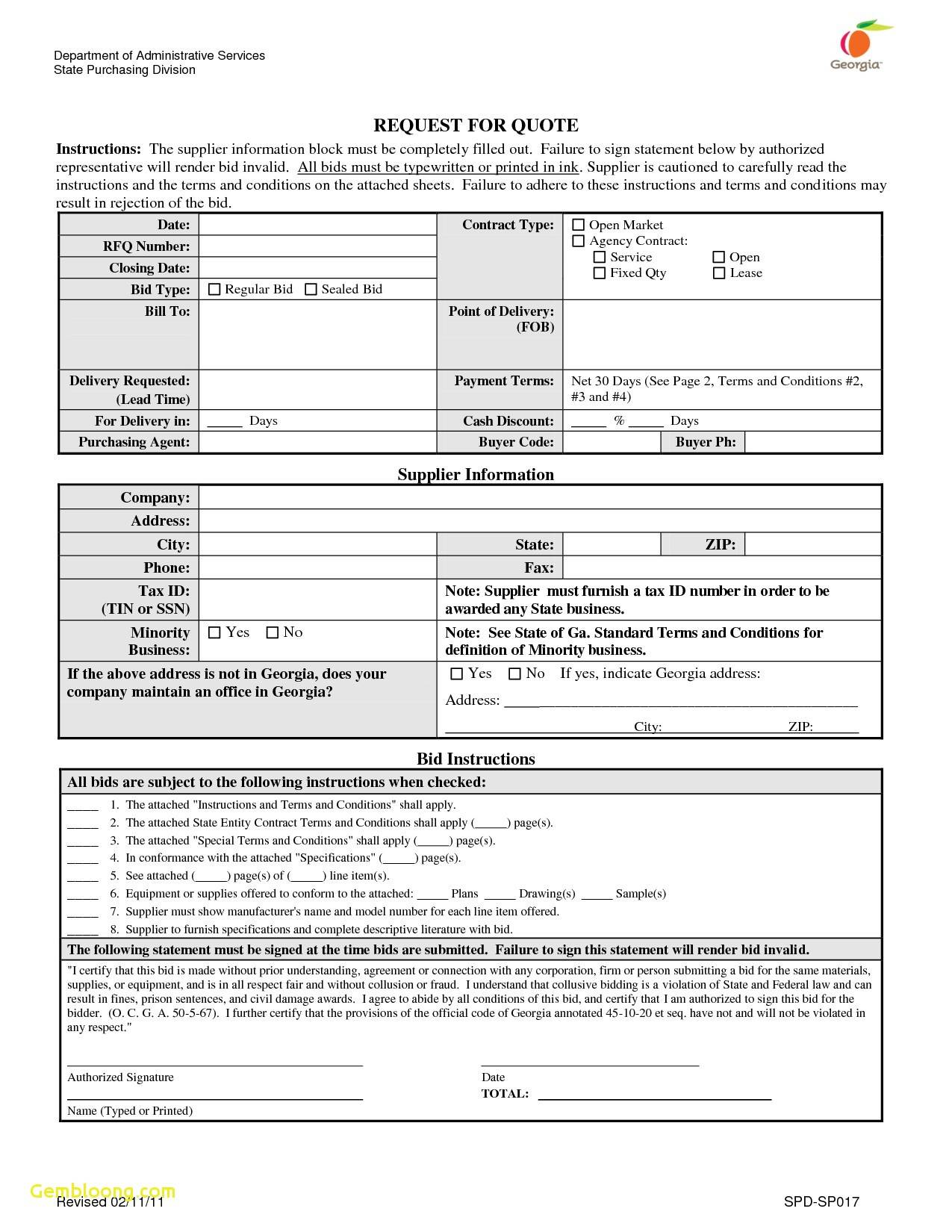 Sample Crm Rfp Template