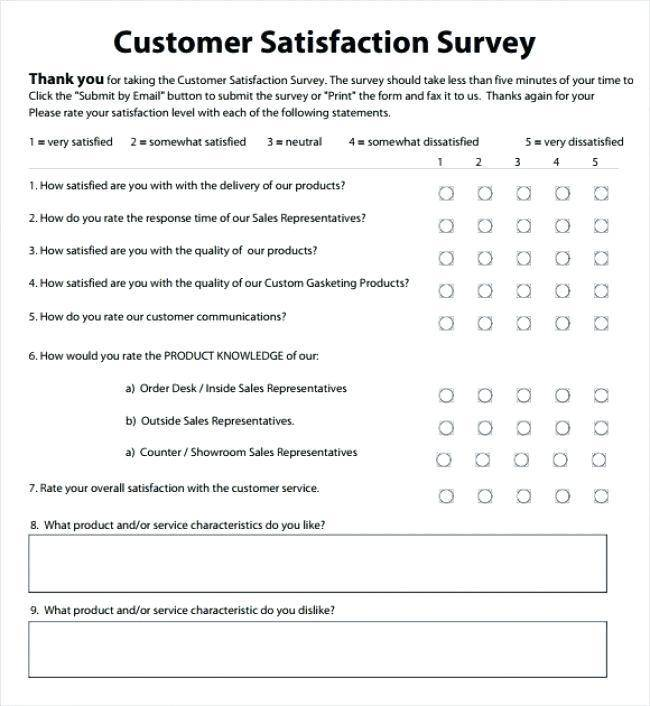 Sample Customer Satisfaction Survey Pdf