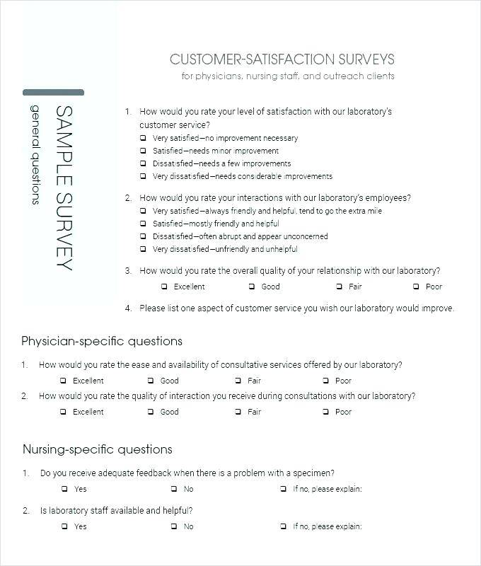 Sample Customer Satisfaction Survey Questions