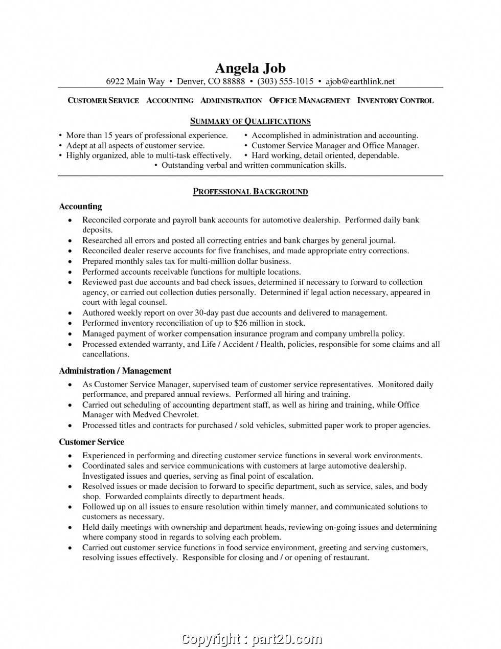 Sample Customer Service Resume Australia