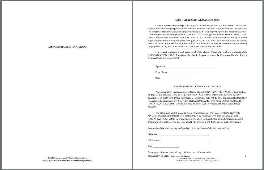 Sample Employee Handbook Ireland