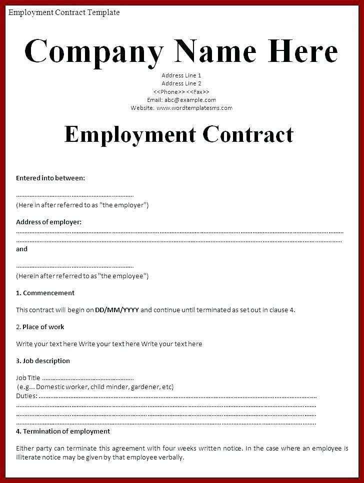 Sample Employment Contract Template Malaysia