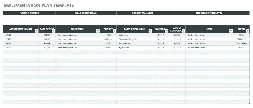 Sample Erp Project Plan Template