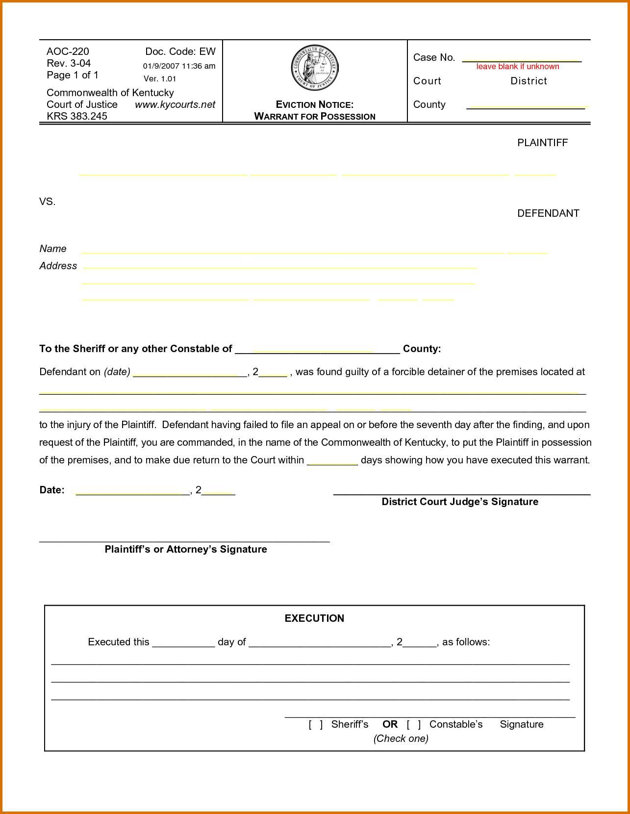 Sample Eviction Notice Ontario