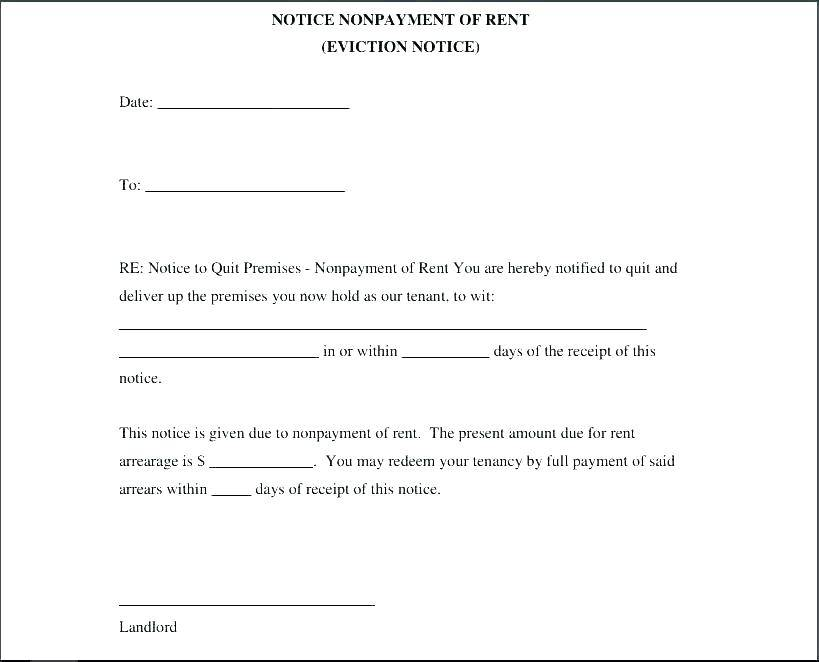 Sample Eviction Notice Word Template