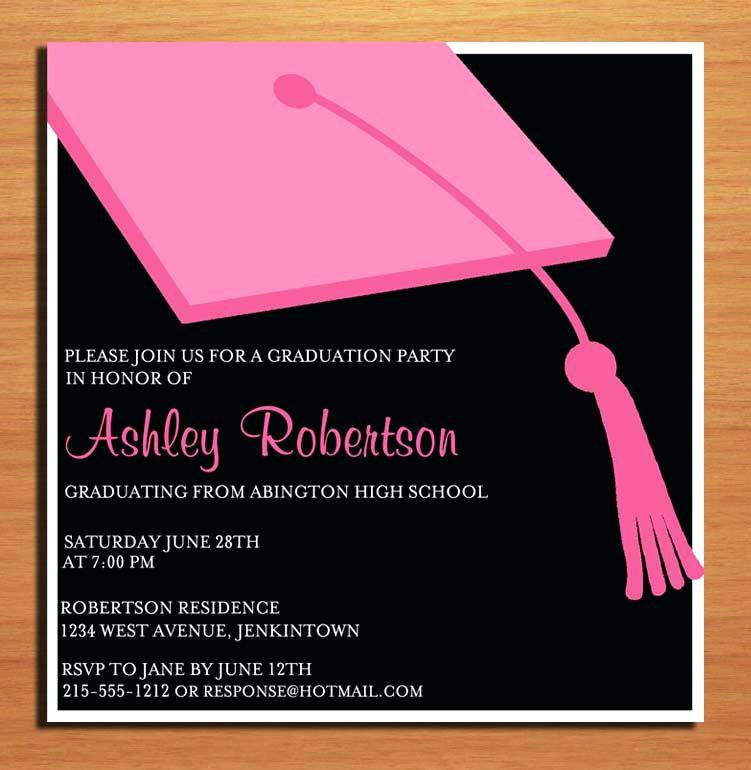Sample Graduation Invitation Templates