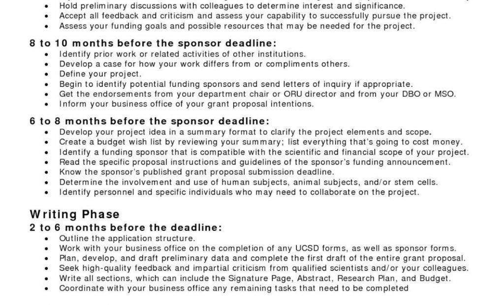 Sample Grant Proposals For Nonprofit Organizations