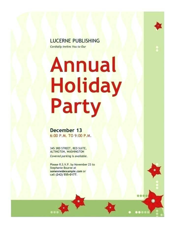 Sample Holiday Invitation Templates