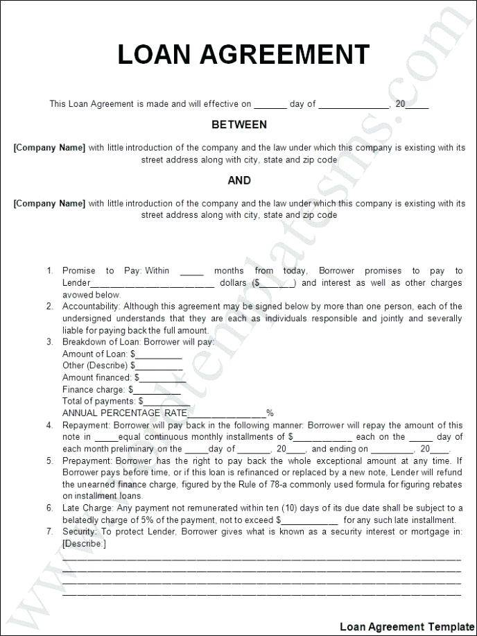 Sample Horse Loan Agreement Template