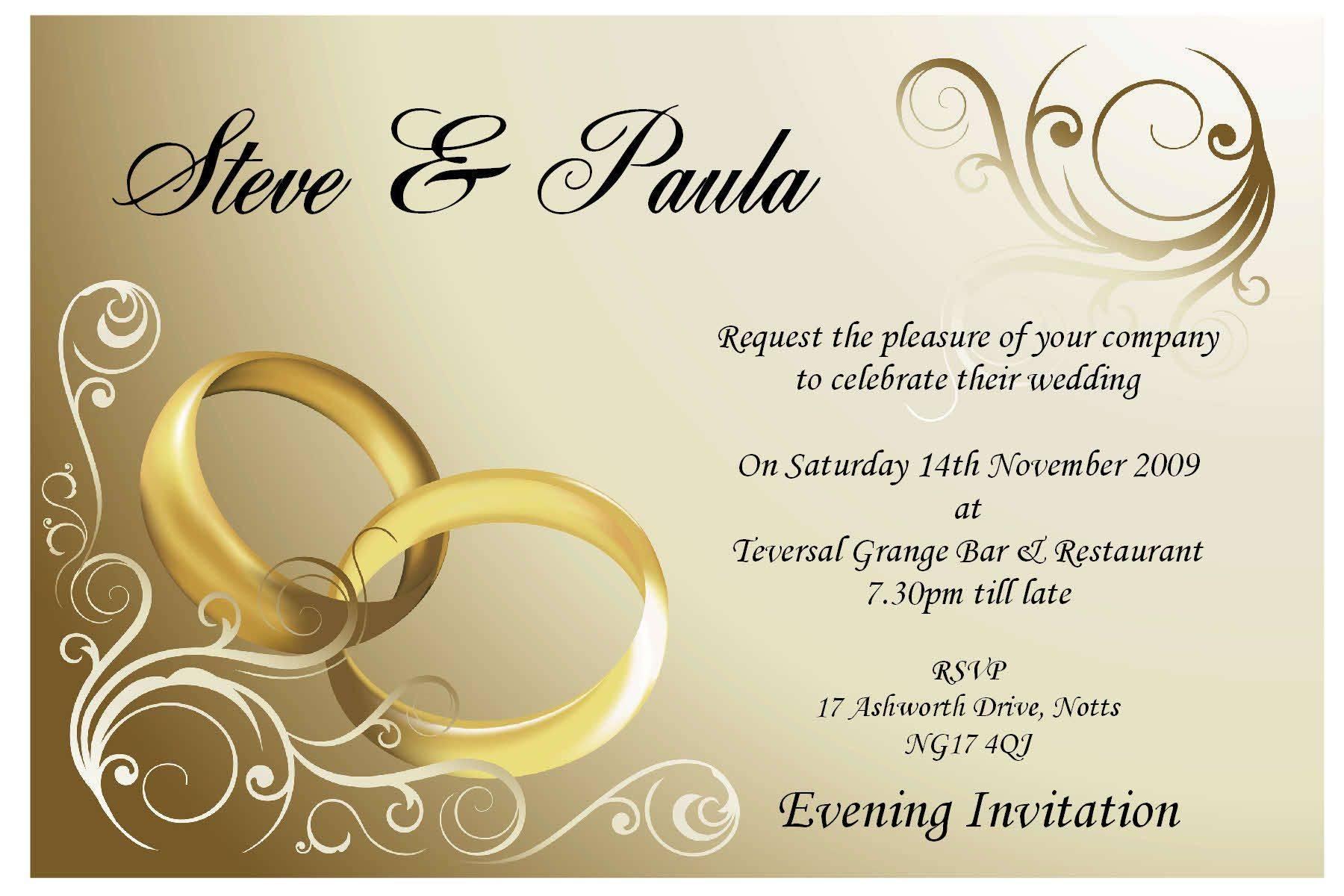 Sample Invitation Templates