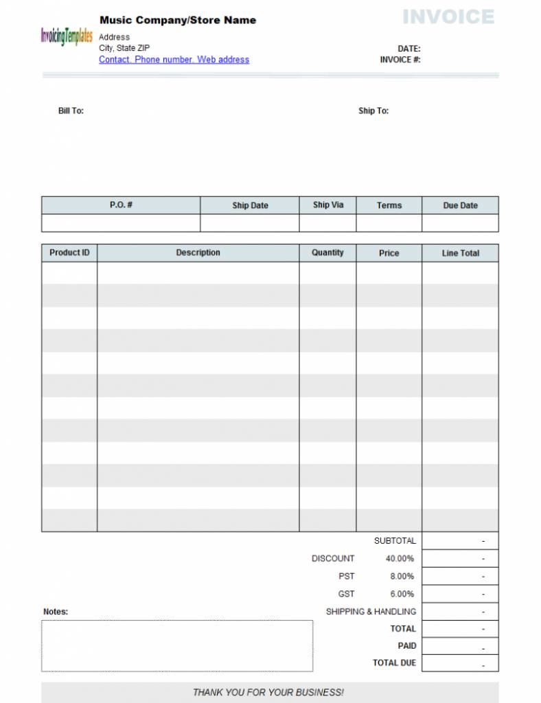 Sample Invoices Format