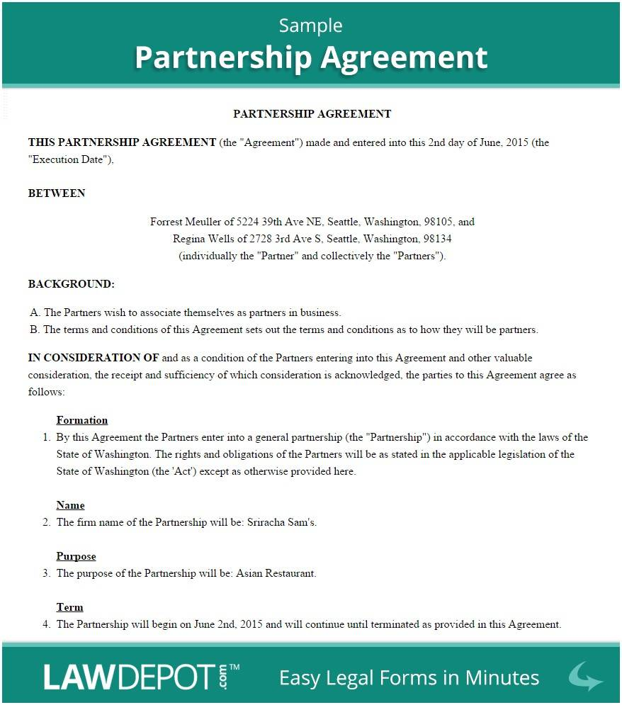 Sample Joint Venture Agreement Template