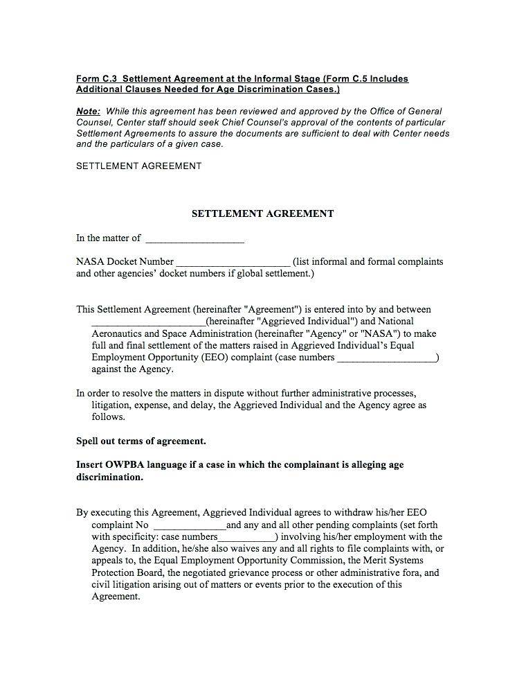 Sample Mediation Agreement Template