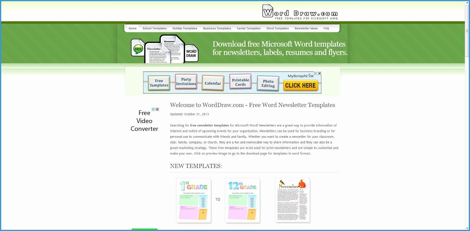 Sample Newsletter Templates Microsoft Word