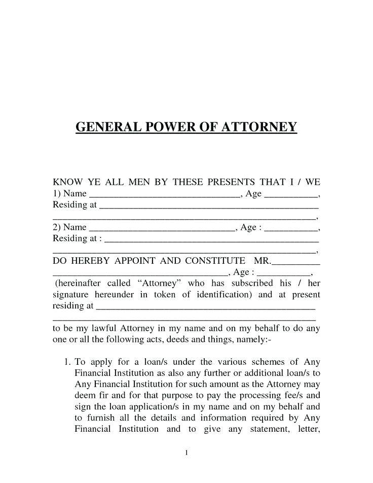 Sample Of Power Of Attorney In Pakistan