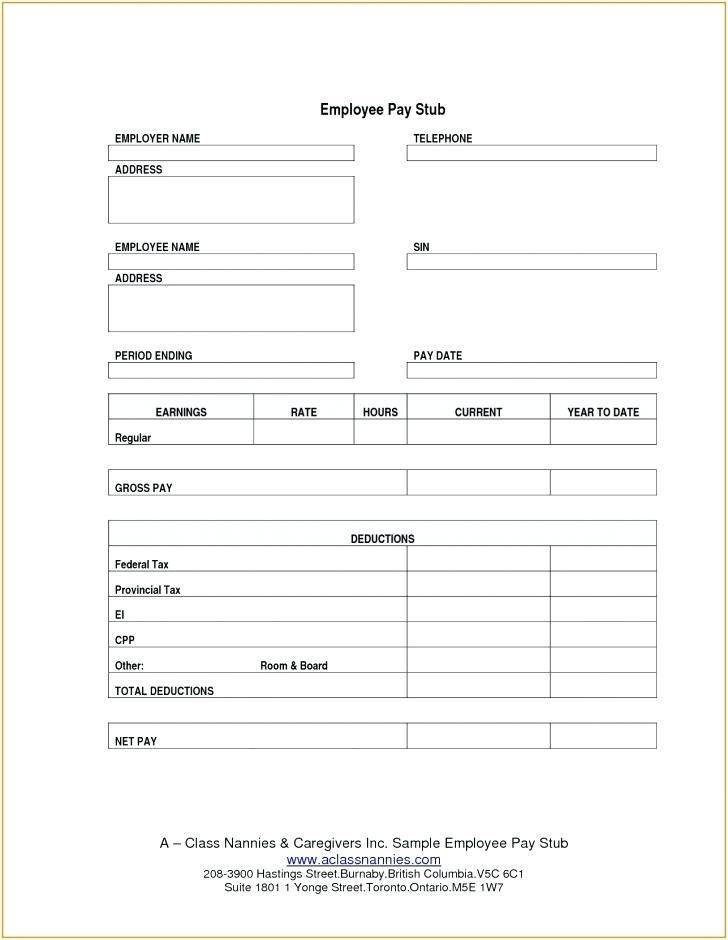 Sample Payroll Check Template