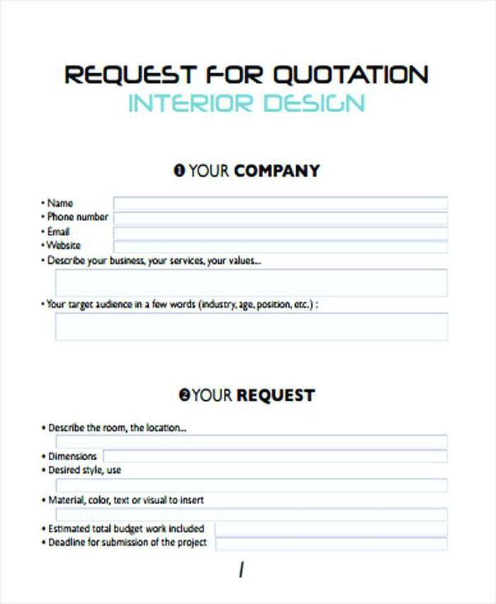 Sample Quotation Format Word Free Download