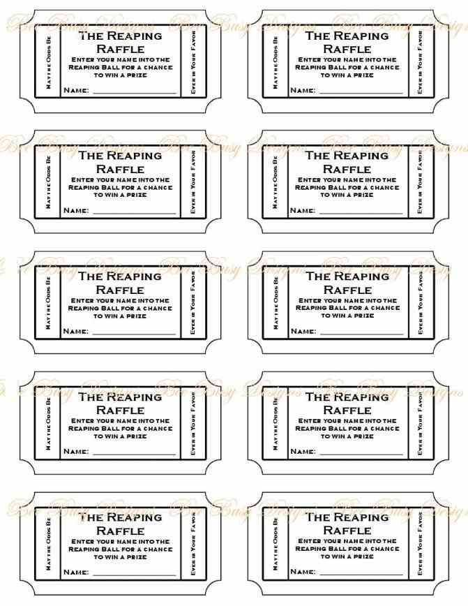 Sample Raffle Tickets To Print