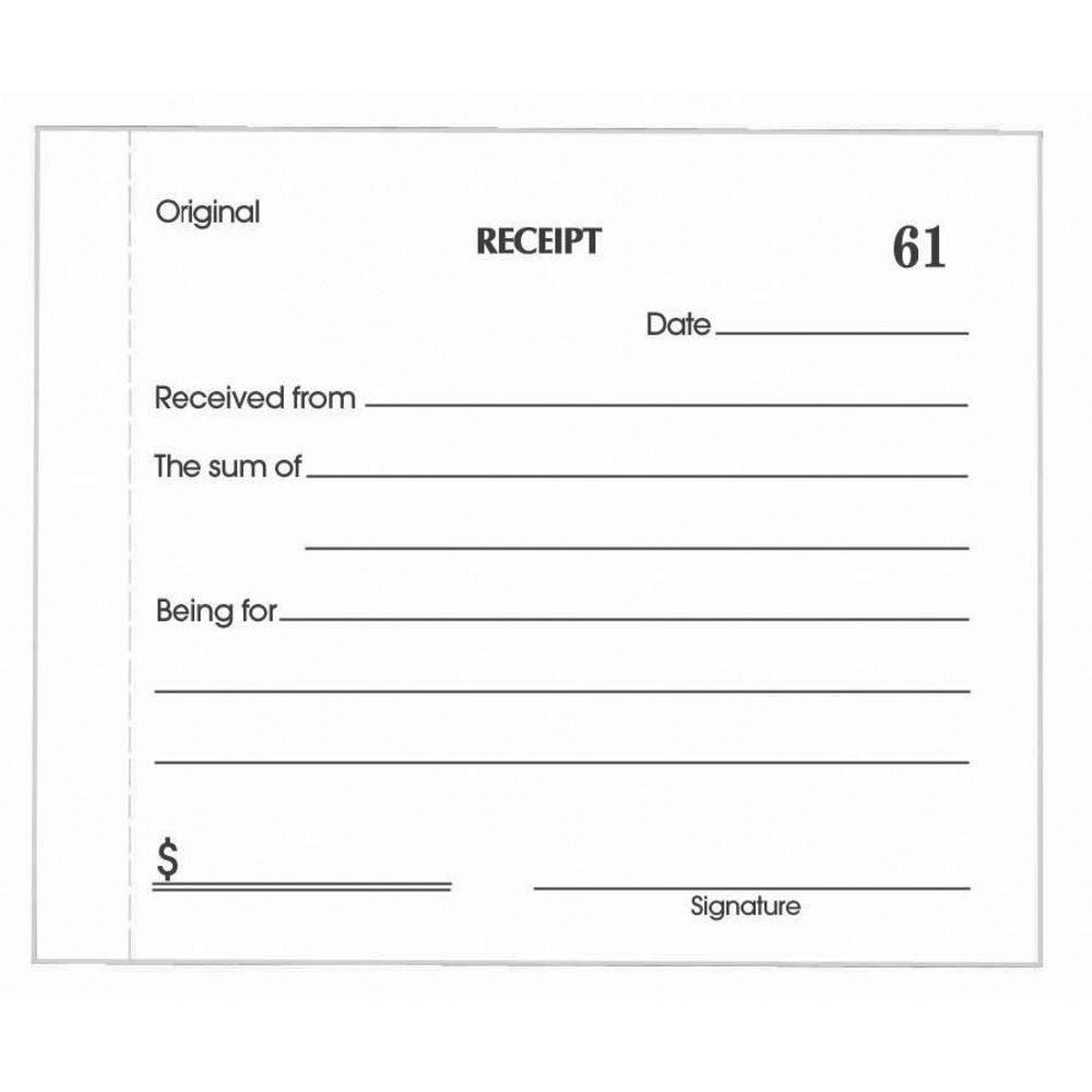 Sample Receipt Template Pdf