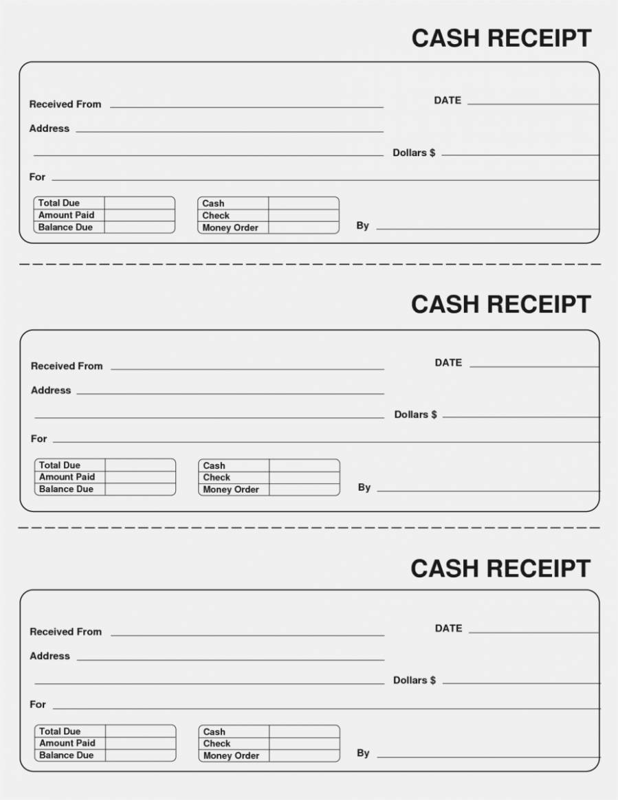 Sample Rent Receipts Templates