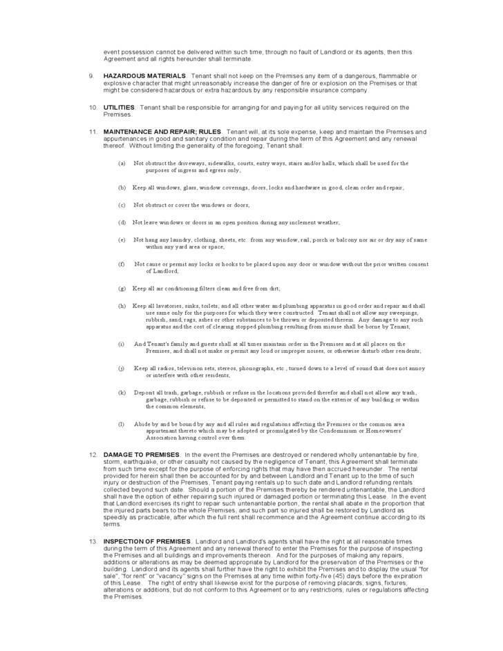Sample Residential Lease Agreement New York
