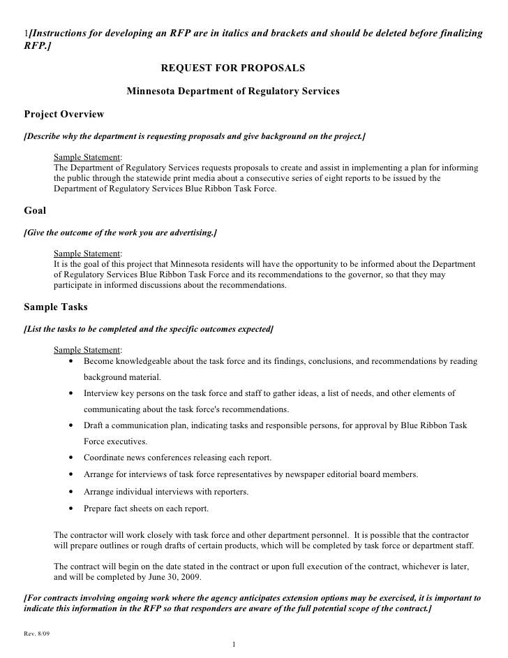 Sample Rfp Document