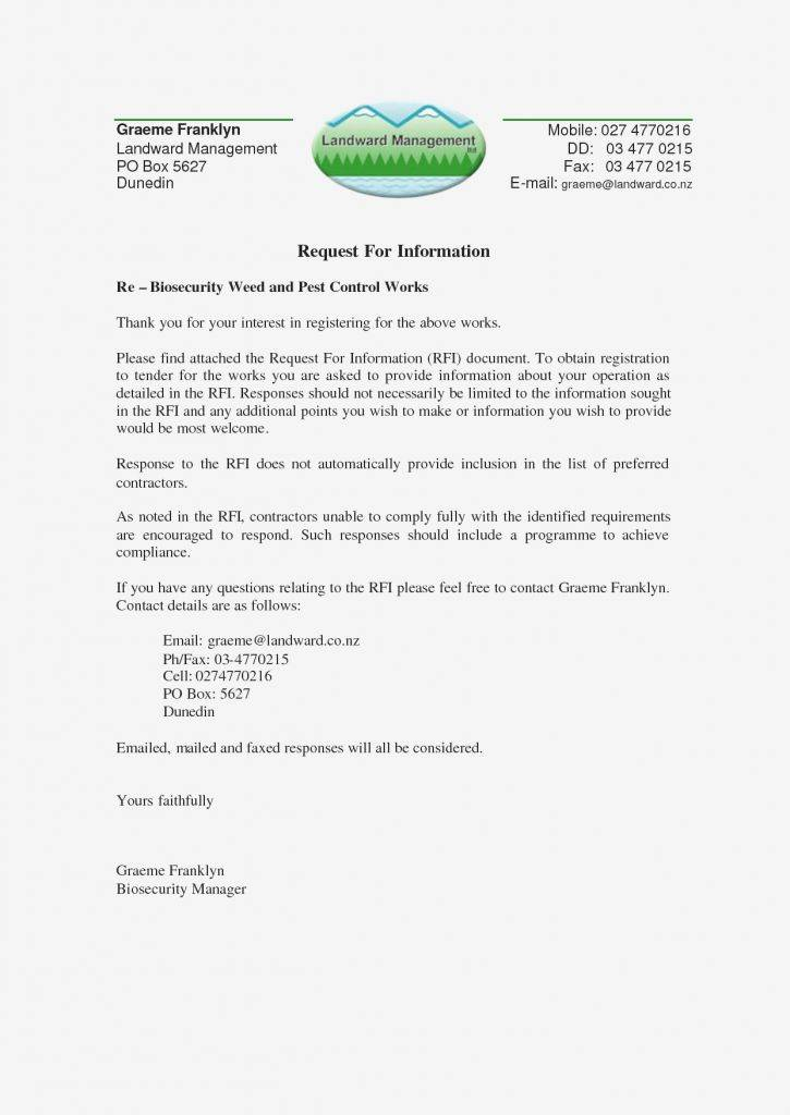 Sample Rfp Response Cover Letter Template